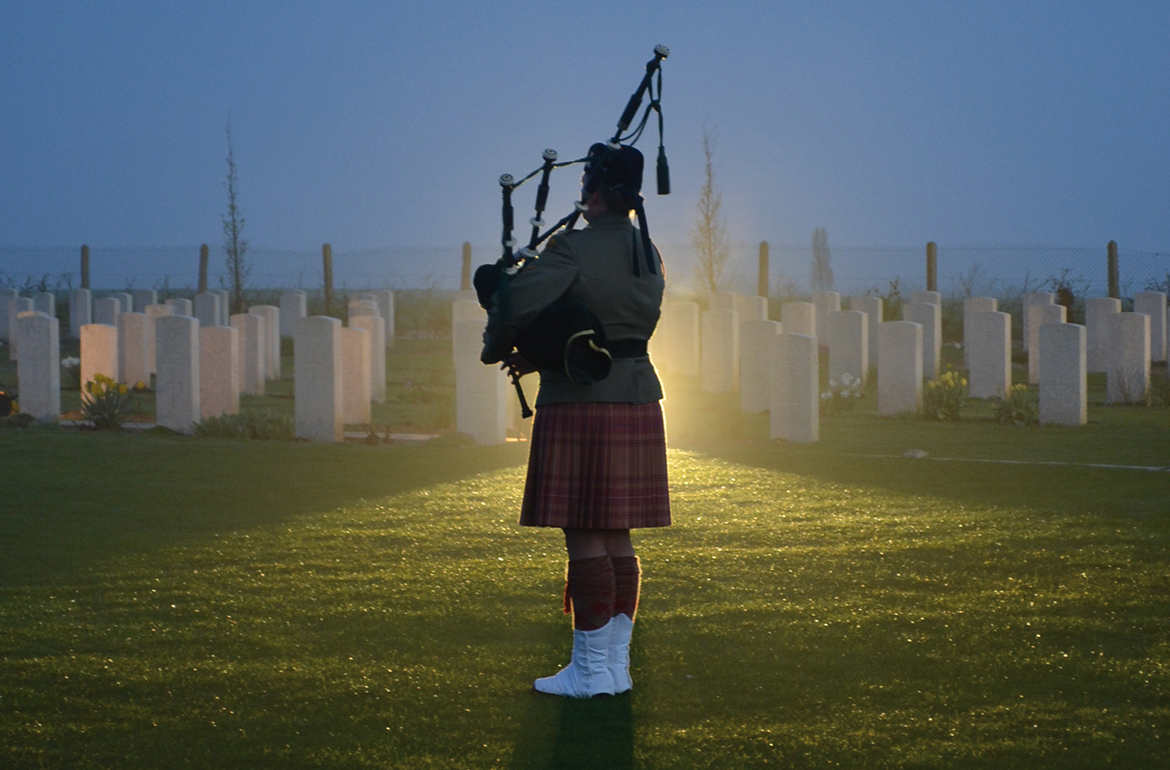 Piper à l'Anzac Day