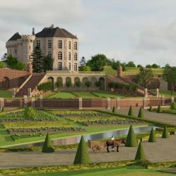 Orangerie et jardin potager by achelle3d