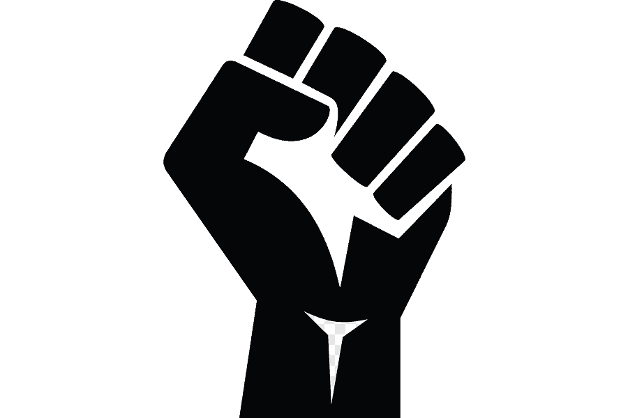 Png clipart raised fist black power sticker others hand logo 1
