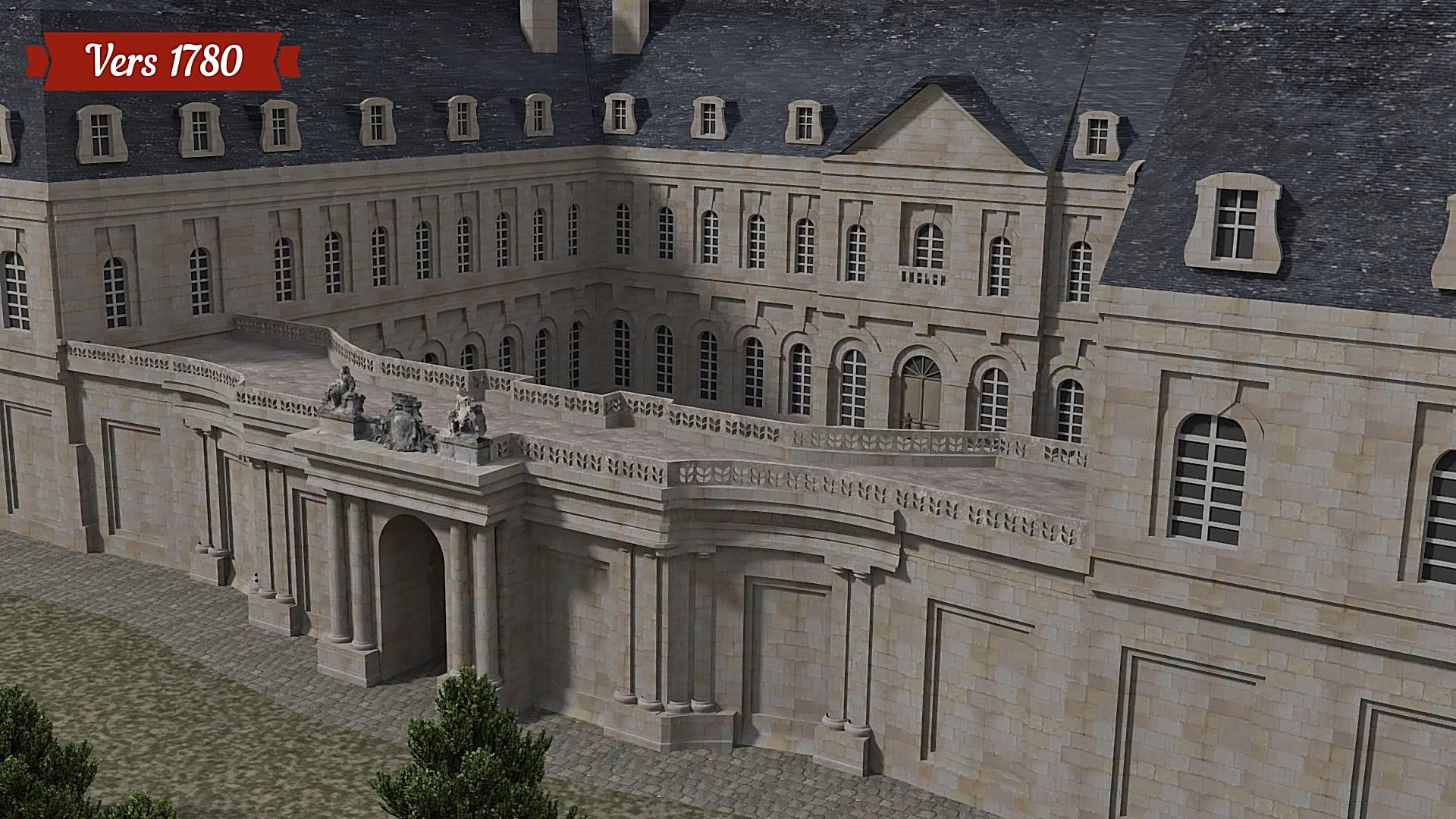 La cour d'honneur en réalité virtuelle