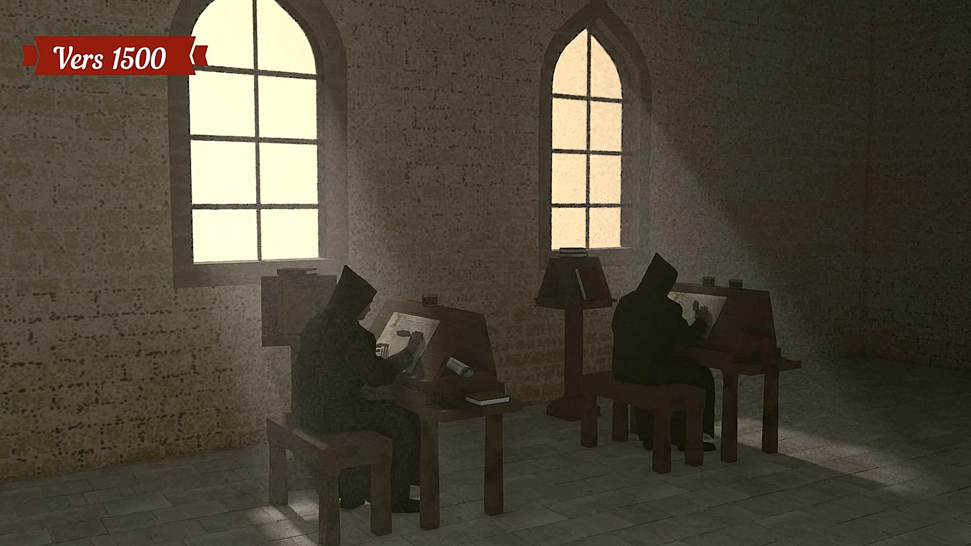 Le scriptorium en réalité virtuelle